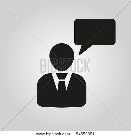 The speaking people icon. Talking and communication, message, speak symbol. UI. Web. Logo. Sign. Flat design. App. Stock vector