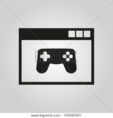 Online games icon. vector design. gaming symbol. web. graphic.