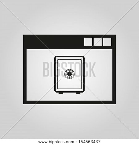 Online banking icon. vector design. online banking symbol. online banking web. online banking graphic.