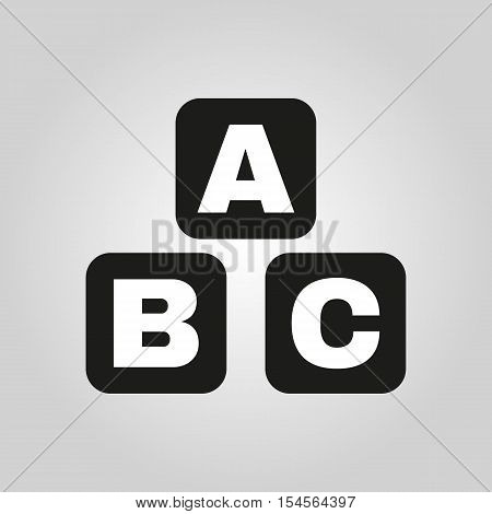 ABC building blocks icon. ABC bricks vector design. Baby bricks symbol. web. graphic.