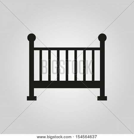 Childrens bed icon. Baby bed design. Cradle and home, nurse symbol. web. graphic.