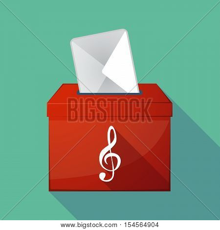 Long Shadow Ballot Box With A G Clef