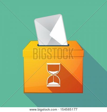 Long Shadow Ballot Box With A Sand Clock
