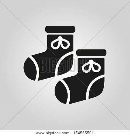 Babys bootees icon. design. Socks, sox symbol. web. graphic.