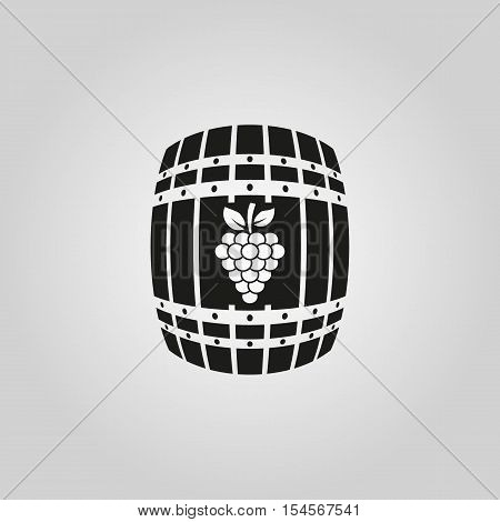 The wine icon. Cask and keg, alcohol symbol. UI. Web. Logo. Sign. Flat design. App. Stock vector