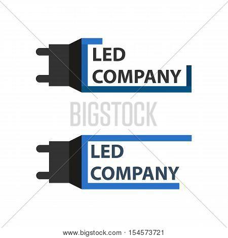 Led Bulb Logo Set. Led Company Logo. Led Illumination. Corporate Logo Design.