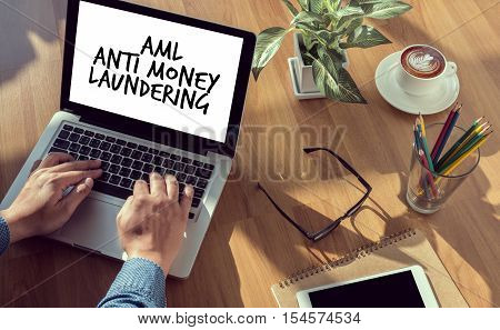 Business Acronym AML Anti Money Laundering abbreviation, accounting, acronym,