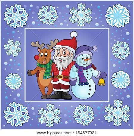 Christmas thematics greeting card 8 - eps10 vector illustration.