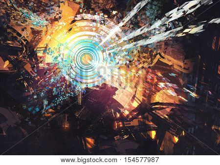 abstract digital painting creative technologies composed,illustration art