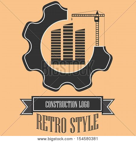 Logo for the construction companies. The logo is made in retro style.