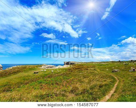 Resting On Summer Sunshiny Coast.