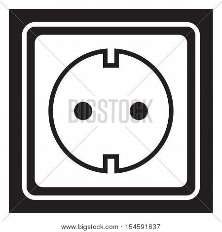 Power socket icon background connector consumption device electric
