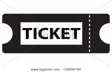 Ticket icon entry theater admit vector sign