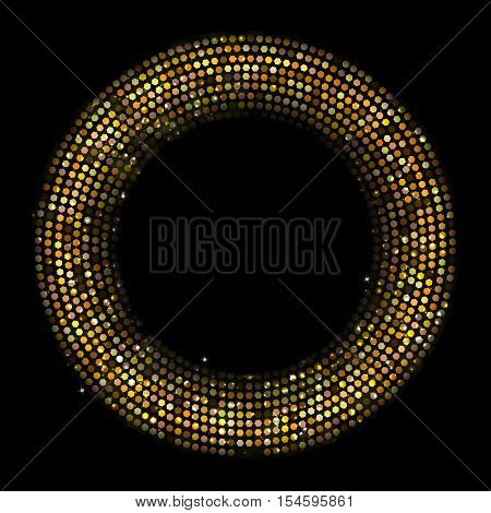 Circle Radius Abstract Golden Background Vector Illustration EPS10