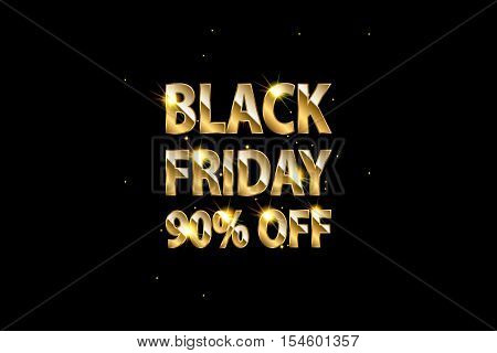 Black Friday sale inscription design template. Black Friday banner. Vector illustration. Black friday design sale discount advertising marketing price. Clothes furnishings cars food sale