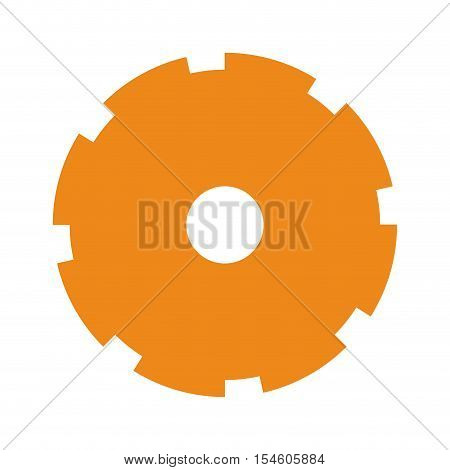 orange silhouette toothed pinion icon vector illustration