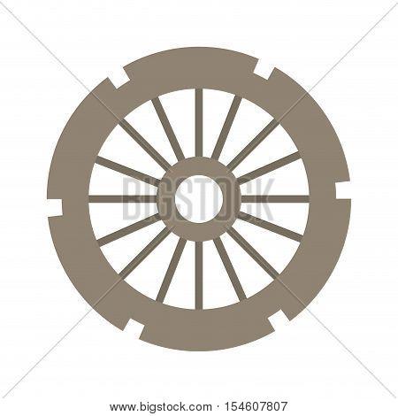 light brown silhouette gear wheel vector illustration