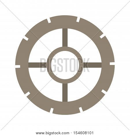 silhouette washer of security gear vector illustration