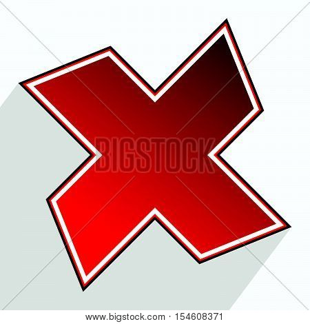 Abstract Cross, X Icon (failure, Error, Rejection, Forbidden Concepts)
