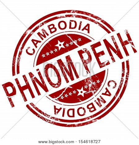 Red Phnom Penh Stamp