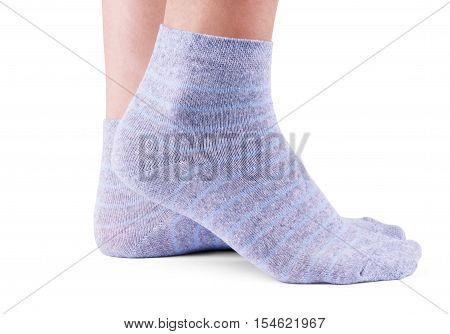 gray socks isolated on white background hiking, hike, white