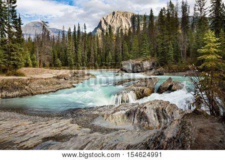 Natural Bridge, rock formation in Yoho National Park, BC, Canada