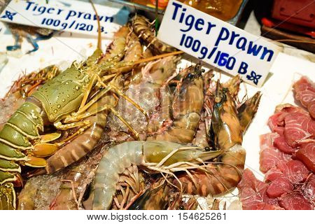 Fresh Wild Seafood Show On Shop