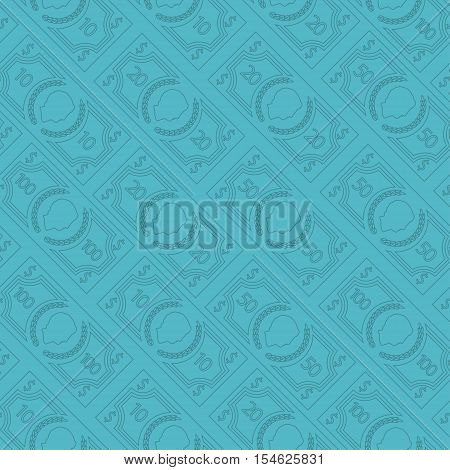 Seamless money pattern. Abstract vector background design for your poster t-shirt card or web.