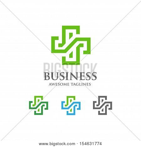 abstract health cross medical logo. Religious sign. Ambulance label. First aid symbol. Plus Vector