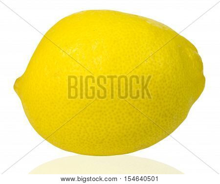 Lemon on white background - Stock Photo