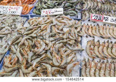 Noryangjin Fisheries Wholesale Market , Expansive Wholesale & Retail Market With Stalls Offering Hun