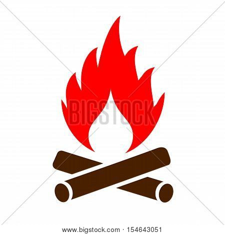 Firewood vector icon vector illustration isolated on white background