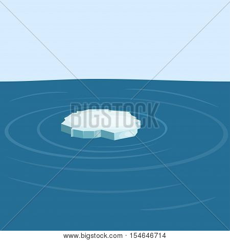 Floe in the sea isolated on sea background. yeps10