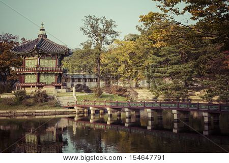 Autumn At Gyeongbokgung Palace In Seoul,korea.