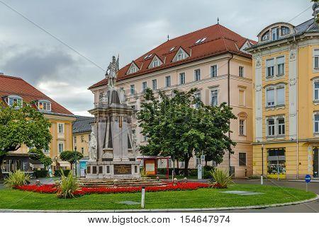 Floriani Monument on square in Klagenfurt Carinthia Austria