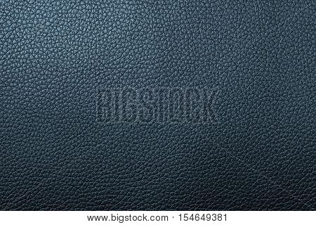 Deep blue leather texture or leather background for design with copy space for text or image. Rough leather fabric.