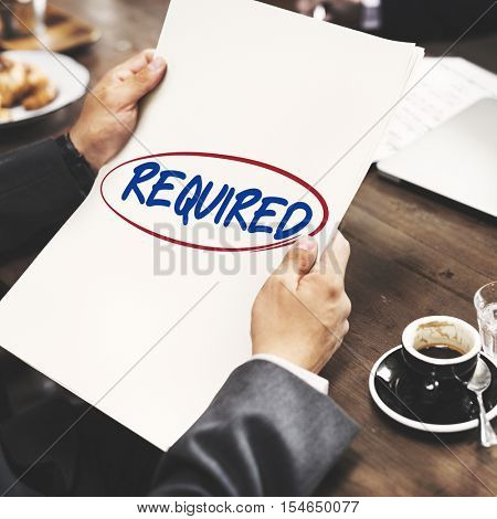 Required Choice Demand Request Order Concept