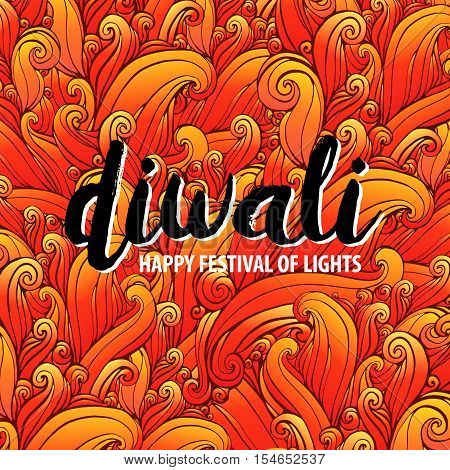 Vector illustration on the theme of the traditional celebration happy diwali. Deepavali light and fire festival. elements for design