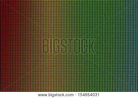 Closeup RGB led diode from led TV and led monitor screen display panel. Colorful led screen for background and design with copy space for text or image.