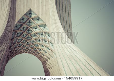 Tehran, Iran - October 04, 2016: View Of The Azadi Tower In Tehran On October 4, 2016. The Tower Is