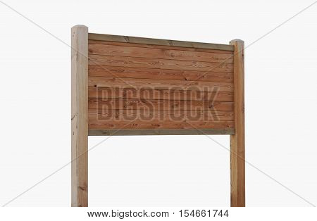 Bulletin board. Ad panel. Wooden panel isolated over a white background