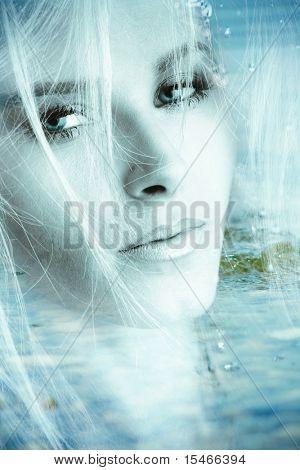 beautiful fantasy woman portrait