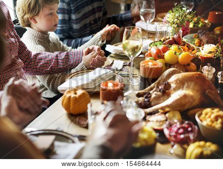 Thanksgiving Celebration Tradition Family Dinner Concept