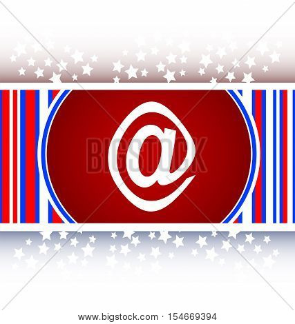 white E-mail icon glossy button, business button