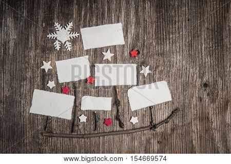 Group Of Empty Notes Of New Year Resolutions