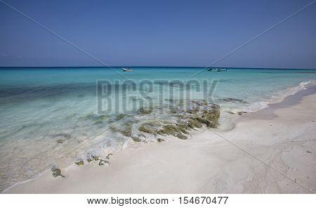 Fisherman Boat On An Island Of Socotra