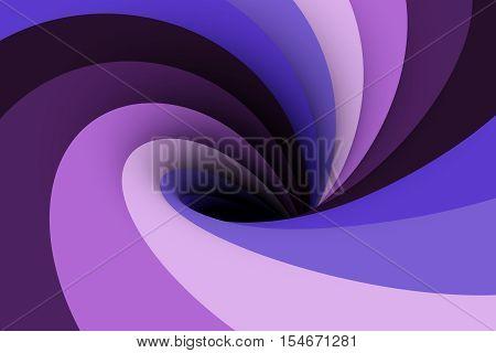 a black hole in a purple color 3D illustration