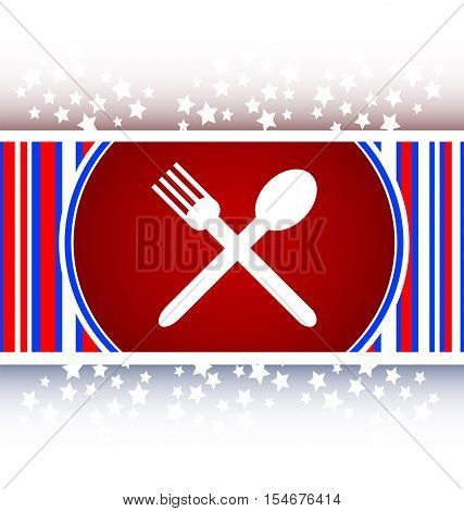 white restaurant internet icon, restaurant web button