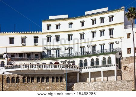 Morocco, Tanger. White house Hotel Continental building