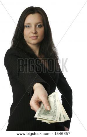 Businesswoman With Money 3